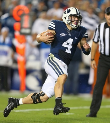 BYU quarterback Taysom Hill against Texas on Sept. 7.