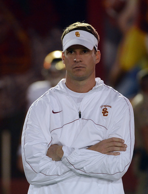 Fourth year USC head coach Lane Kiffin.