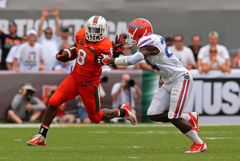 Miami (FL) running back Duke Johnson against Florida.