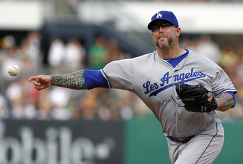 Dodger pitcher Peter Moylan