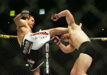 Gabriel Gonzaga nearly decapitated Mirko Cro Cop with a head kick that is still talked about to this day.