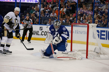 Ben Bishop has a lot to prove in the crease for the Lightning during training camp.