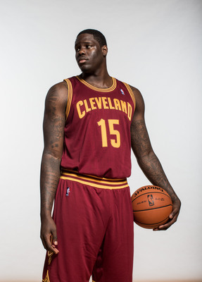 GREENBURGH, NY - AUGUST 06:  Anthony Bennett #15 of the Cleveland Cavaliers poses for a portrait during the 2013 NBA rookie photo shoot at the MSG Training Center on August 6, 2013 in Greenburgh, New York.  NOTE TO USER: User expressly acknowledges and ag