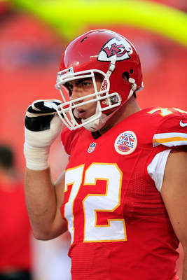 Right tackle Eric Fisher was the first overall selection in the 2013 NFL draft last April.