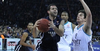 Jordan Farmar spent the 2012-13 season with Anadolu Efes of the Turkish Basketball League. (Euroleague.net)