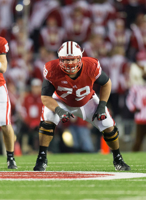 Groy (79) is a versatile and dominating lineman for Wisconsin.