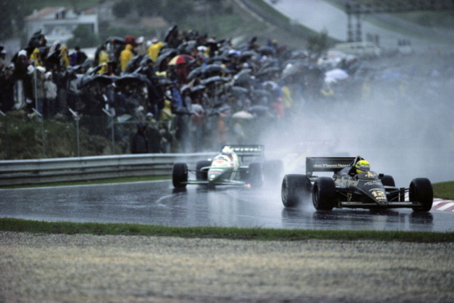 Senna overcame horrendous conditions for his first win