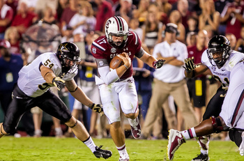 Not normally a runner, Thompson showed off some quickness against Vandy.
