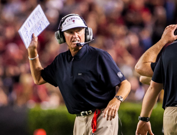 Steve Spurrier certainly was not happy with the play of his special teams.