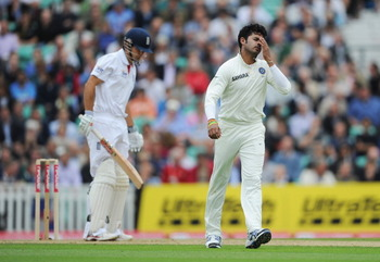 Sreesanth struggles during India's tour of England in 2011.