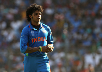 Sreesanth during his last ODI appearance for India.