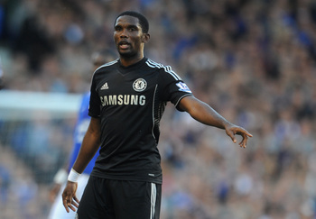 Samual Eto'o was unable to get a goal on his debut for Chelsea.