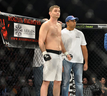 Kalib Starnes before his 2011 fight with Patrick Cote. (Photo credit: Brian Townsend/Sherdog)