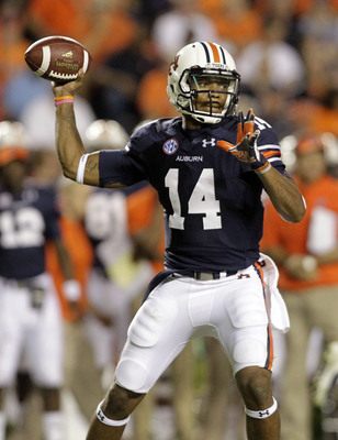 Junior Auburn quarterback Nick Marshall against Mississippi State on Sept. 14.