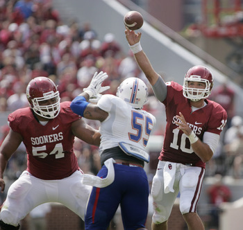 Oklahoma quarterback Blake Bell against Tulsa on Sept. 14.