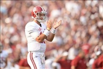 Expect AJ McCarron and Alabama to hold down the top spot with a win over Colorado State