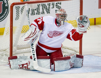 After playing in the ECHL, AHL and NHL in 2012-13, Mrazek looks to settle in Grand Rapids.