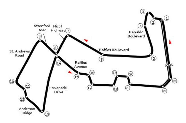 Circuit Map By Readro, with Turn 10 Modification.