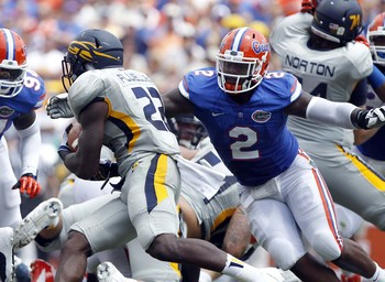 Gator defensive tackle Dominique Easley against Toledo on Aug. 31.