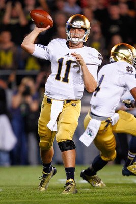 Notre Dame quarterback Tommy Rees at Purdue on Sept. 14.