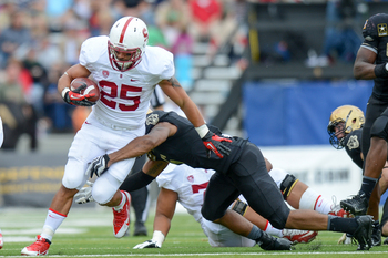 Senior Stanford running back Tyler Gaffney at Army on Sept. 14.