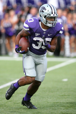 Kansas State senior running back John Hubert against UMass on Sept. 14.