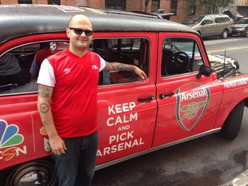 Kurtis Powers, head of NYC Arsenal Supporters. Credit: @ArsenalNYC