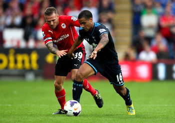 Kyle Naughton had a tough afternoon versus Cardiff.
