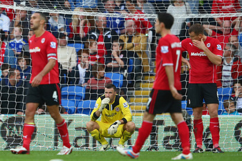 A gutted David Marshall looks on after Paulinho's goal.