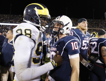 QB Devin Gardner after beating UConn