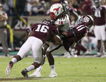 Texas A&M LB Donnie Baggs has been replaced in the starting lineup by freshman Darian Claiborne