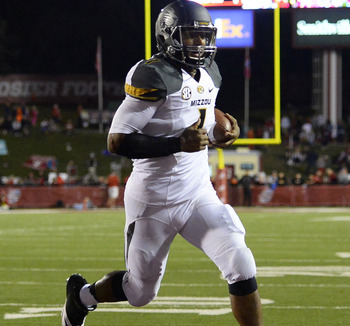 Missouri QB James Franklin