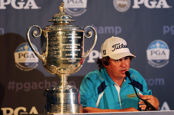 Jason Dufner with the Wanamaker Trophy.