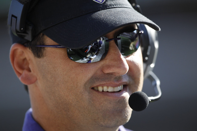 Sep 21, 2013; Seattle, WA, USA; Washington Huskies head coach Steve Sarkisian watches game action during the fourth quarter of a 56-0 victory over the Idaho State Bengals at Husky Stadium. Mandatory Credit: Joe Nicholson-USA TODAY Sports