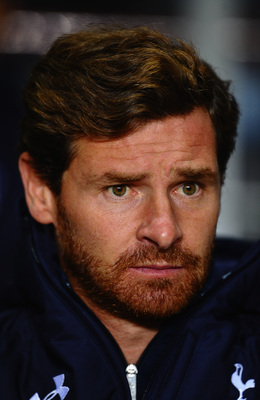 Andre Villas-Boas watches on at Villa Park.