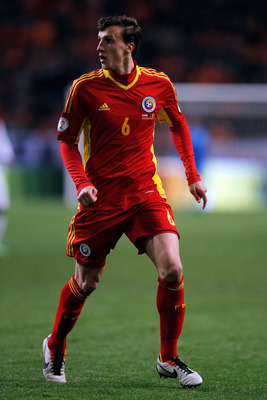 Vlad Chiriches on international duty with Romania.