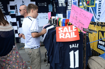 Bale's Spurs exit meant cut-price merchandise for fans.