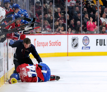Alexei Emelin suffered a bad knee injury in April.