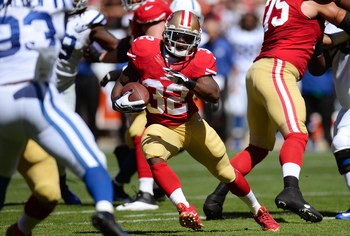 Kendall Hunter scored the 49ers only touchdown in Week 3.
