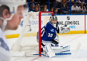Ben Bishop should be patrolling the net for the Lightning in 2013-14. How well he does his job is yet to be seen.