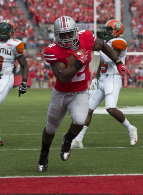 Ohio State running back Jordan Hall against Florida A&M on Sept. 21.