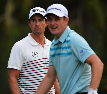 Adam Scott and Justin Rose won major titles in 2013.