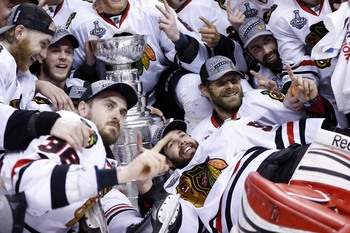The Chicago Blackhawks won their second Stanley Cup in four years in 2013.