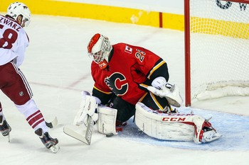 Goaltending is a question mark for the 2013-14 Calgary Flames.