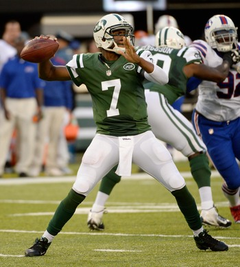 Geno Smith passed for 331 yards against Buffalo.