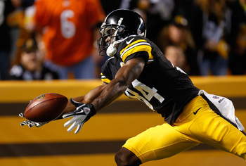 Antonio Brown leads the Steelers in receptions.