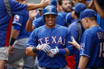 Leonys Martin brought great speed and fielding to the Rangers in 2013.