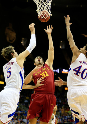 Georges Niang is one of the few big men in the Big 12 who gave former Kansas center Jeff Withey issues. Niang averaged 15.7 points in three games against KU.