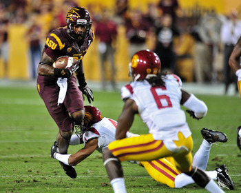 Arizona State sophomore wide receiver Jaelen Strong against USC on Sept. 28.