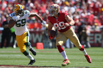 Vance McDonald has made a minimal contribution in the 49ers' passing game.